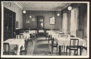 1937 LEGNICA - HOTEL NATIONAL, RESTAURACJA
