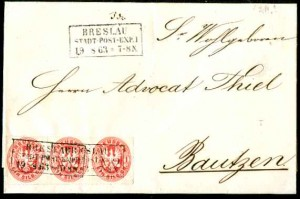 1861 WROCŁAW - STADT POST EXPEDITION No 1